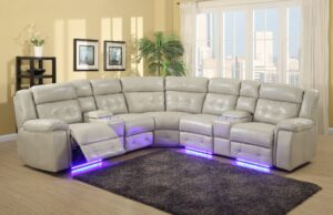 RLR6556 Power Sectional Beige